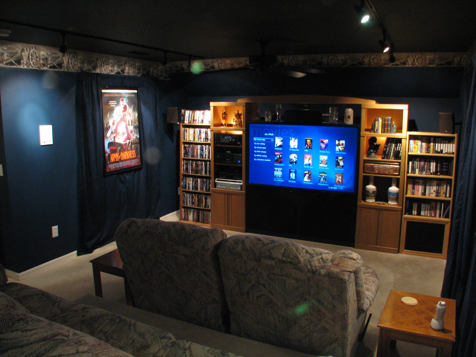 Home Entertainment Center with Custom Made Furniture